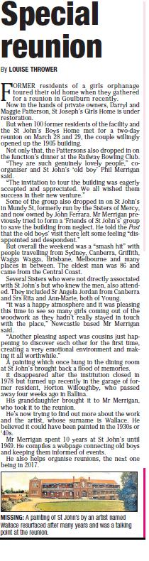 Goulburn Reunion Article Goulburn Post March 2015