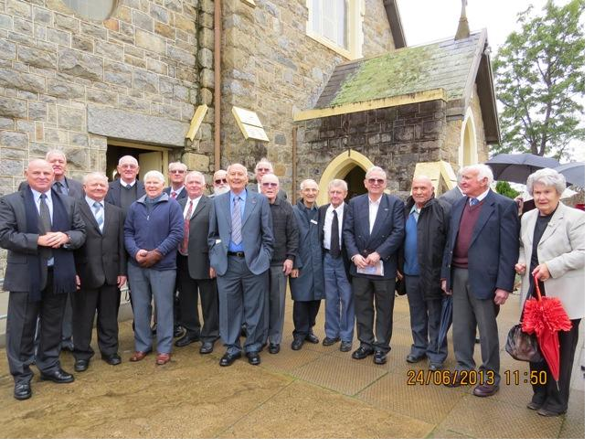 St-Johns-Old Boys-Gather -for-Sister- Madeleines- Funeral